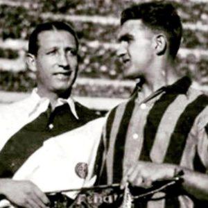 José María Minella y Alvaro Gestido en River 3 Peñarol 1 en 1938.