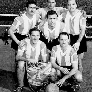 Francisco Lombardo,Julio Musimessi y José García Pérez (par.), Pedro Dellacha (aga.), Eliseo Mouriño y Ernesto Gutiérrez (hin.).