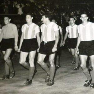 Rogelio Domínguez,Juan Guidi,Néstor Rossi,Federico Pizarro,Federico Vairo,Antonio Angelillo y Miguel Juárez