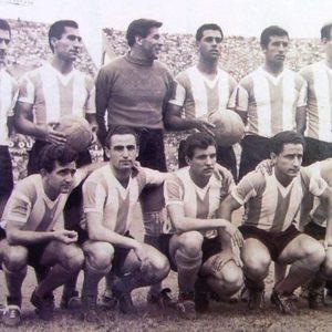 Simeone, Vidal, Roma, Ramos Delgado, Griguol y Sacchi (par.) Corbatta, Pizzuti, Artime, Sanfilippo y Belén (hin.).
