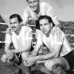 Juan Héctor Guidi (par.), Juan Carlos Giménez y Adolfo Jorge Benegas (hin.) en la Selección Argentina.
