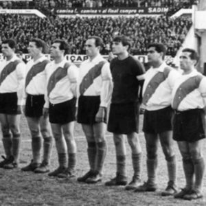 Fernández, Ramos Delgado, Bonczuk, Artime, Cap, E. Onega, Matosas, Gatti, Cubilla, Sainz, Mas y el Charro Moreno.