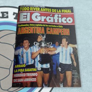 Revista El Gráfico 3505 Argentina Campeón