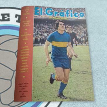 Revista El Gráfico 2663 Boca. Angel Rojas: dos goles para dar vuelta un partido