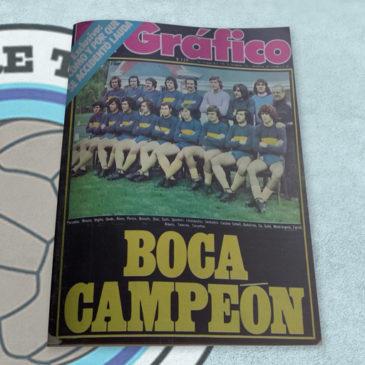 Revista El Gráfico 2966 Boca Campeón 1976