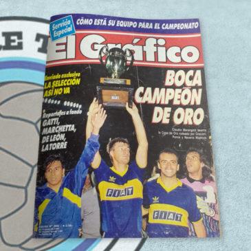 Revista El Gráfico 3668 Boca Campeón de Oro