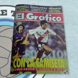 Revista El Gráfico 3930 Con la camiseta River volvió a ganarle a Boca