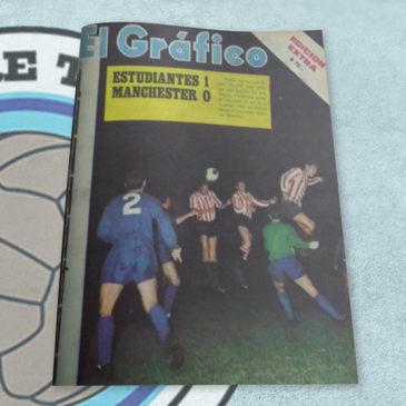 Revista El Gráfico Estudiantes 1 Manchester 0 1968