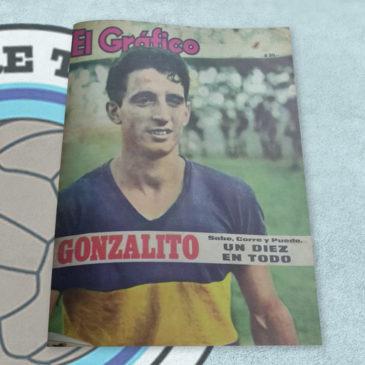 Revista El Gráfico 2405 Gonzalito. Sabe, corre y puede. Un diez en todo.