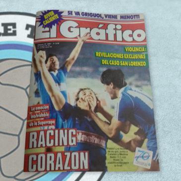 Revista el Gráfico 3583 La emoción inolvidable de la Supercopa. Racing Corazón