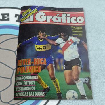Revista El Gráfico 3523 River-Boca Polémico