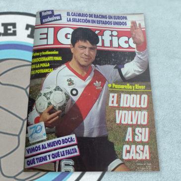 Revista El Gráfico 3595 Passarella y River El Idolo volvió a su casa