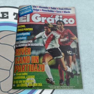 Revista El Gráfico 3566 River ganó un partidazo