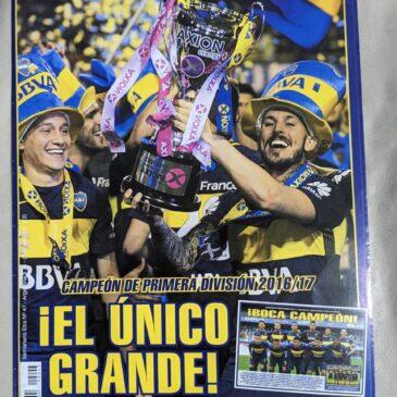 Póster Desplegable Boca Campeón Primera División 2016 / 2017