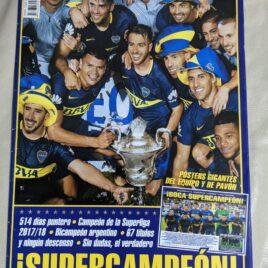 Póster Desplegable de Boca Supercampeón Superliga 2017 / 2018 y de Pavón