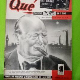 Revista Qué sucedió en 7 días. Contiene nota sobre los orígenes del Club Estudiantes de Buenos Aires.